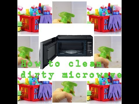 diy   how to clean dirty microwave