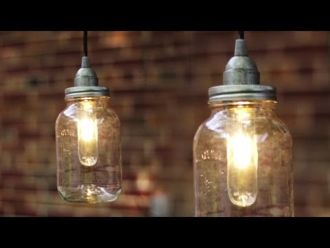 DIY MASON JAR LIGHT / LANTERN