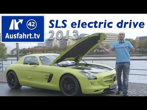 2013 Mercedes Benz SLS AMG electric drive / Fahrbericht unser kurzen Probefahrt / Test / Review
