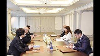 Mehriban Əliyeva Yaponiya Baş nazirinin xarici siyasət məsələləri üzrə müşaviri ilə görüşüb