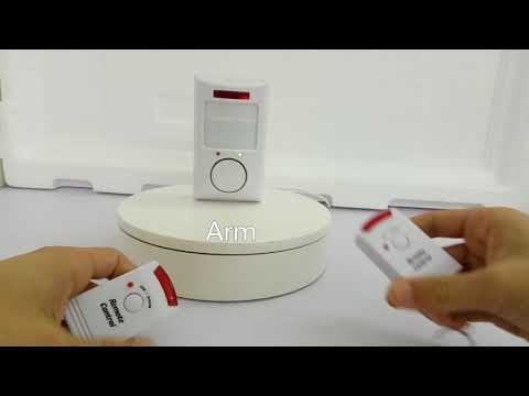 Golden Security Easy Operate Wireless PIR Motion Detector Alarm Sensor System for Home Security