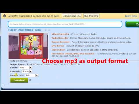 The easy way to convert dailymotion to mp3
