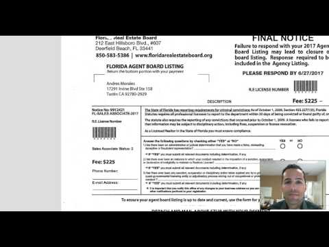 Florida Real Estate Board Scam!!!