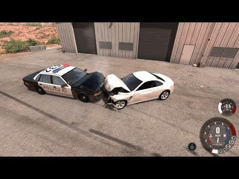 Police Getaway Crashes Compilation - BeamNG.drive