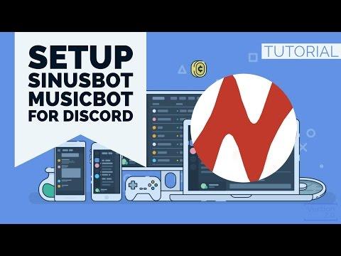 HOWTO | SETUP SINUSBOT MUSICBOT FOR DISCORD | ENGLISH