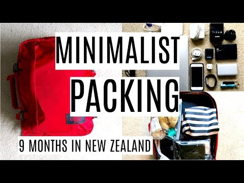 WHAT I PACKED | 9 MONTHS IN NEW ZEALAND | MINIMALIST PACKING