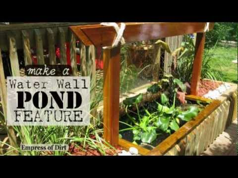 DIY: Make A Water Wall Pond Feature