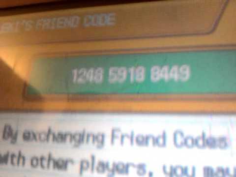 My Pokemon Heart Gold Friend Code