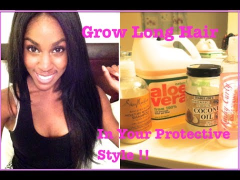 NATURAL HAIR  How To Grow Long Hair Under Your Protective Style (Wigs & Weaves)