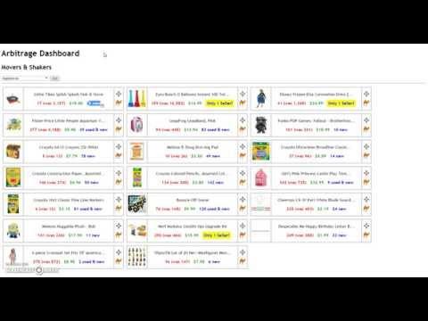 Arbitrage Dashboard - Amazon Movers & Shakers