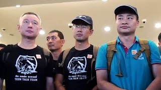 Chinese Cave Rescue Team Departs From Bangkok Airport