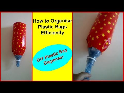 DIY Plastic Bag Dispenser  How to Organize Plastic Bag   #Sheetaljoshi