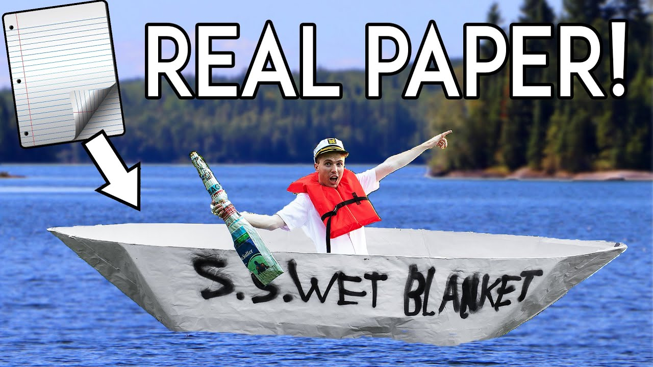 Can you Sail a Mile in a Paper Boat?