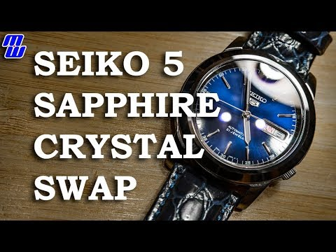 Replace Your Scratched Seiko 5 Crystal With a Sapphire! - SNKE51 Crystal Swap