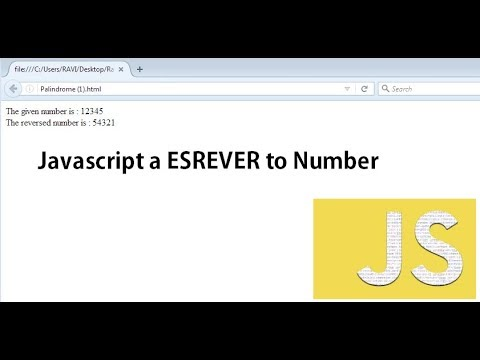 Javascript to reverse a given number - Palindrome Implementation