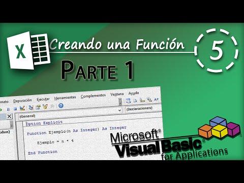 Creando una Función Parte 1 | VBA Excel 2013 #5