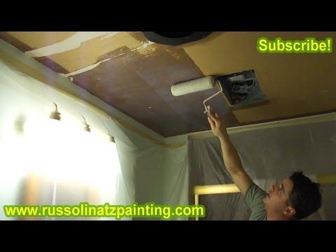 DIY Removing Popcorn Ceiling (Part 2) - Drywall Repair & Wall Preparation - Interior Painting