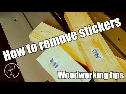 How to remove stickers, labels off timber and other products