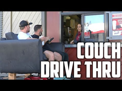 We Went To A Drive Thru On A Couch (Drive-Thru Prank)