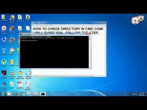 how to change directory and check directory on cmd