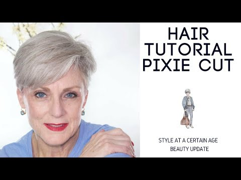 pixie cut tutorial | beauty over 50