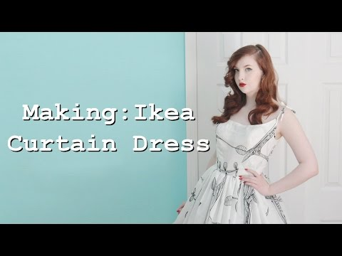 Making a Dress From Curtains - Part One