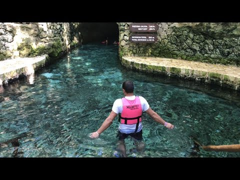 Swimming In An Amazing Underground Cave River | Xcaret Eco Park, Riviera Maya,  Mexico 4K UHD