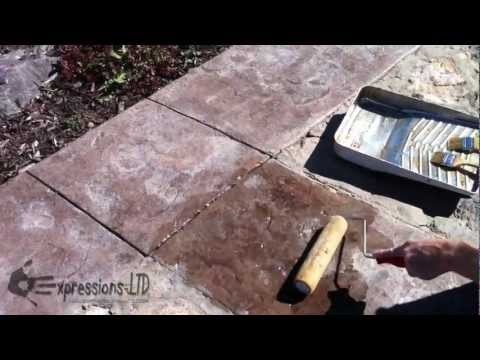 Reseal Renew Old Worn Acrylic Sealer on Decorative Stamped Concrete