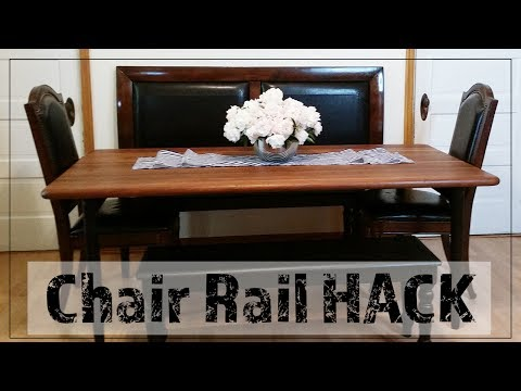 Upcycle a Headboard Into a DIY Bench Back/ Chair Rail Hack