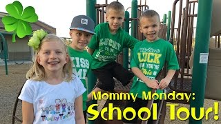 School Tour, Open House & Ice Cream || Mommy Monday