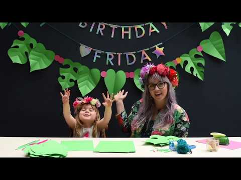 How to make JUNGLE DECORATIONS for a Katy Perry party