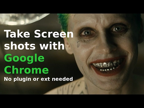 take screenshots in chrome browser : chrome screenshot no extention.