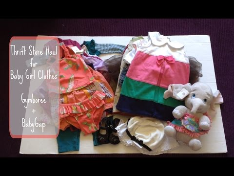 Baby Girl Clothes Thrift Store Haul: Gymboree and BabyGap