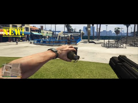 GTA 5 - How To Throw A Sticky Or Grenade While Using Your Gun In Next Gen (GTA 5 Gameplay)