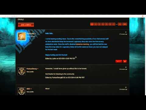 +100% Legendary drop rate bonus PERMANENTLY! Diablo 3 Reaper of souls