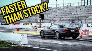 I Drag Raced My $8,900 Mercedes-Benz SL55 AMG