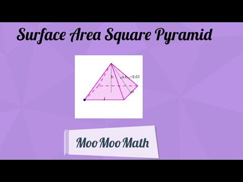 Finding the Surface Area of a Square Pyramid- Middle School Math