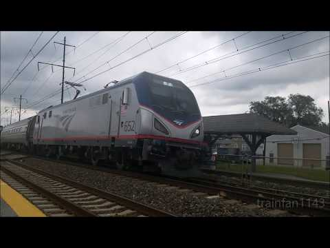 Amtrak (and one SEPTA) at Prospect Park 7/26/17