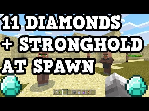 Minecraft Xbox / Switch Seed - STRONGHOLD UNDER SPAWN