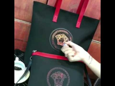 The temperature will change the color of the versace bag