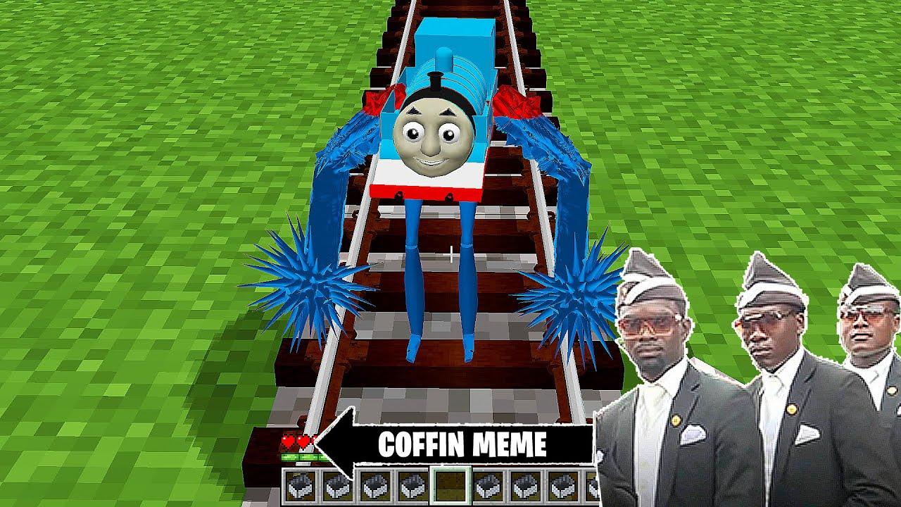 The Smallest Mutant Thomas the Train in Minecraft - Coffin Meme