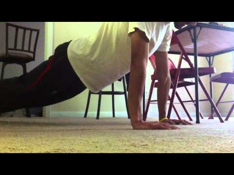 How long can you hold a plank in a push up position?