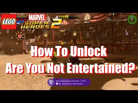 How to get Are You Not Entertained? Achievement / Trophy in Lego Marvel Superheroes 2
