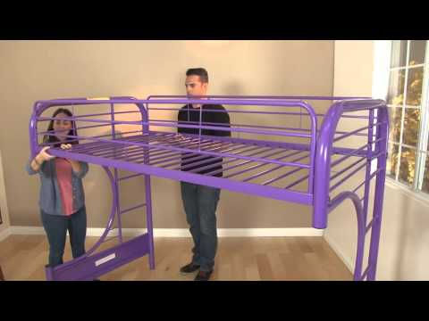 Eclipse Twin Full Futon Bunk Bed Assembly Video
