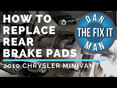 REPLACING REAR BRAKE PADS - 2010 Chrysler Town & Country - DIY