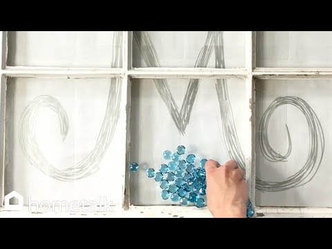 How to DIY Mosaic Window Wall Art with Dollar Store Gems
