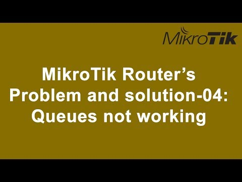 MikroTik Router's  Problem and solution-04:  Queues not working