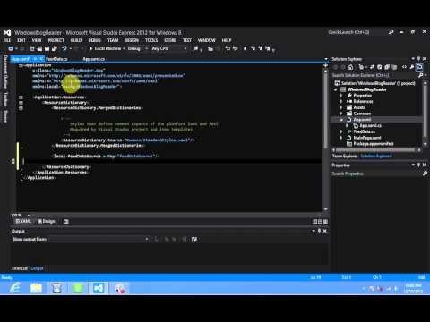 Windows 8 Development - XAML Add Resource