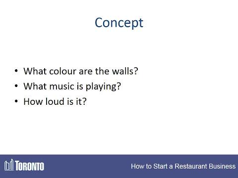 How to Start a Restaurant - #1 - Concept Development