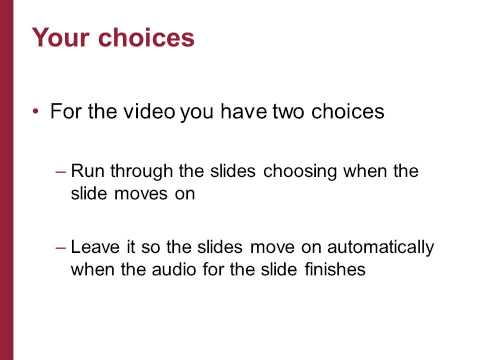 Adding audio files and saving your powerpoint presentation as a movie